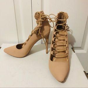 Charlotte Russe Tie Up Heels
